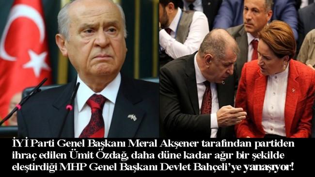 Meral Akşener'in kovduğu Ümit Özdağ, Bahçeli'ye sırnaşıyor!