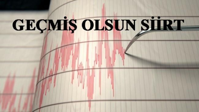 Siirt'te deprem oldu