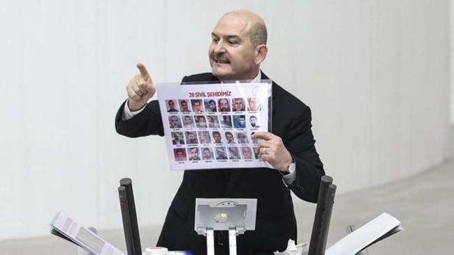 """Soylu, HDP'lilere dönerek """"Haysiyetsizler, haysiyetsizler, haysiyetsizler"""" dedi (!)"""