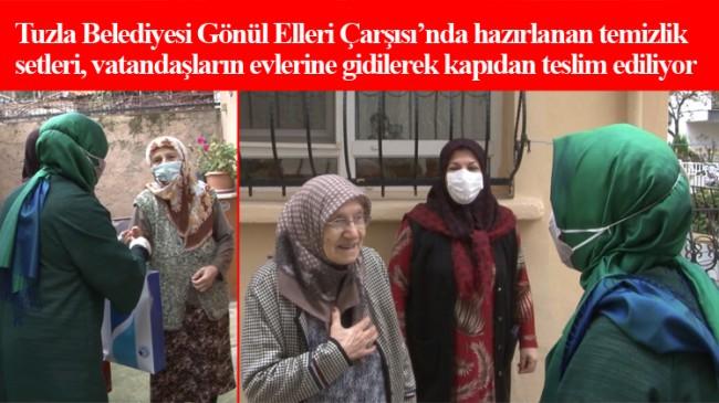 Tuzla Belediyesi'nden Tuzlalı 65 yaş üstü vatandaşlara temizlik seti