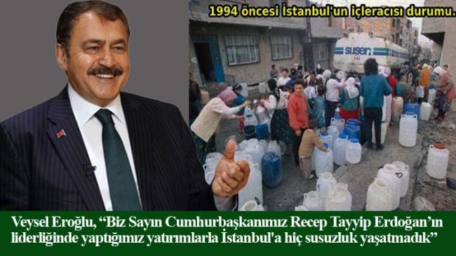 """Eroğlu, """"1994 öncesi İstanbul'u susuzlukla Kerbela'ya çeviren malum zihniyet yine susuzluktan bahsetmeye başladı"""""""