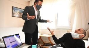 Başkan Yazıcı, engelli yazar Ersin Ata'yı ziyaret etti