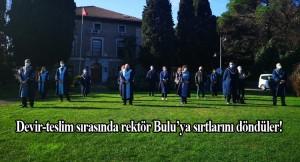 Boğaziçi Üniversitesi rektör devir-teslim töreninde istenmeyen görüntüler!