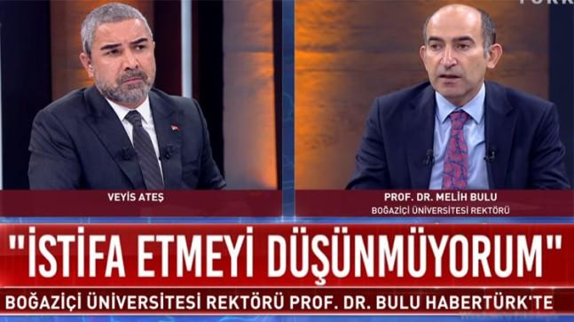 Boğaziçi Üniversitesi'nin yeni rektörü Melih Bulu, Veyis Ateş'e sessizliğini bozdu
