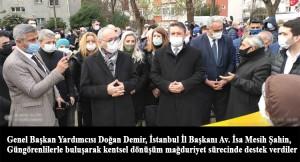 """Güngören Tozkopran Mahallesi sakinleri """"Siz bize uğurlu geldiniz"""""""