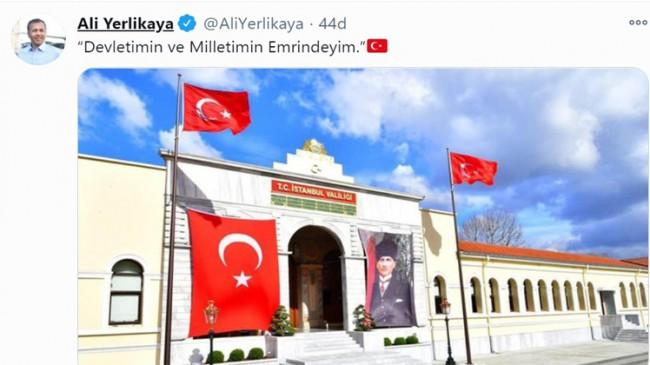 """İstanbul Valisi Ali Yerlikaya, """"Devletimin ve milletimin emrindeyim"""""""