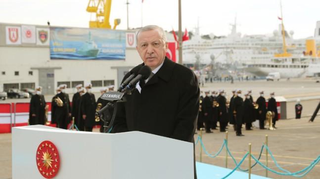 """Cumhurbaşkanı Erdoğan, """"Dünyada kendi savaş gemisini yapan 10 ülke, İHA, SİHA üretiminde ise ilk 3-4 ülkesi arasındayız"""""""