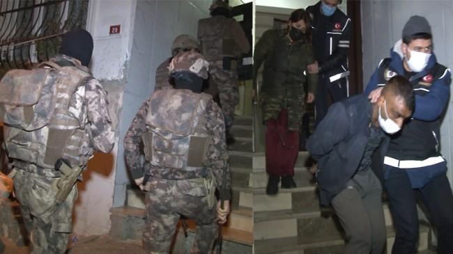 Polis uyuşturucu tacirlerinin tepesinde
