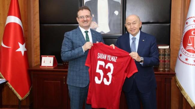 TFF Başkanı Özdemir'den Cumhuriyet Başsavcısı Şaban Yılmaz'a ziyaret