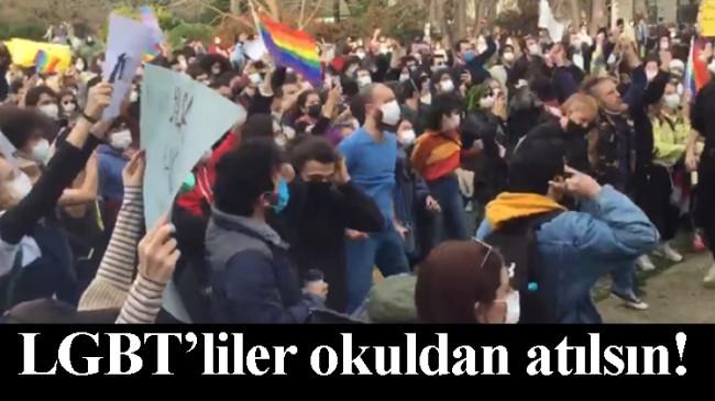 Boğaziçi Üniversitesindeki LGPT'li ve diğer göstericilere polis müdahalesi