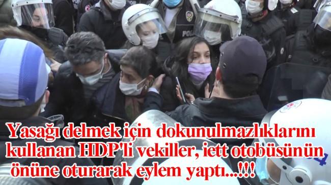 HDPKK'lı vekiller, dokunulmazlıklarını kullanarak  illegal eylem yaptılar!