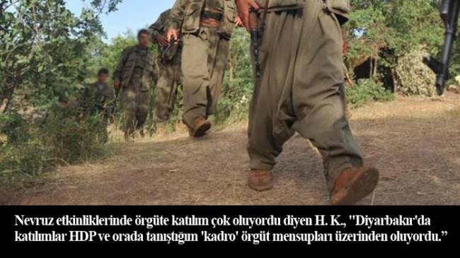 Terör örgütü PKK'ya HDP Diyarbakır İl Başkanlığı binasından gönderilmiş!