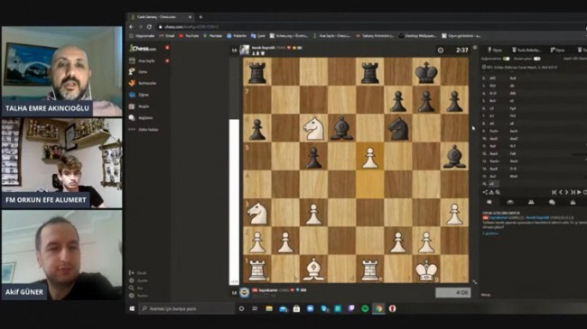 Tuzla'da online satranç turnuvası