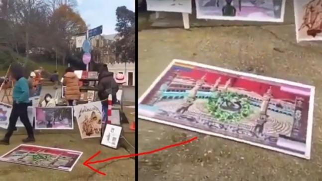 Boğaziçi Üniversitesi önünde Kabe fotoğrafını yere serenlere üç yıl isteniyor