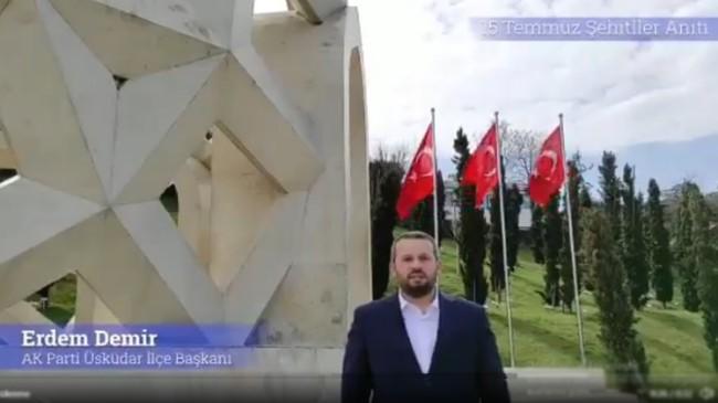 AK Parti Üsküdar'dan vatanseverleri heyecanlandıran İstiklal Marşı videosu