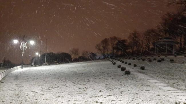 Anadolu Yakasına lapa lapa kar yağıyor