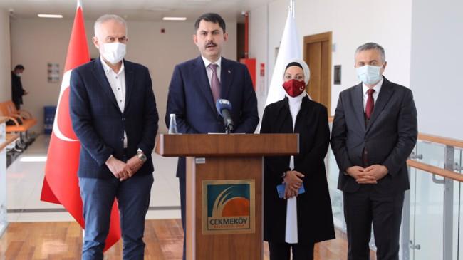 Bakan Murat Kurum, Çekmeköy'den müjdeler vererek ayrıldı