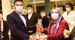 """Başkan Öztekin, kadın girişimcilerin """"8 Mart Dünya Kadınlar Günü""""nü kutladı"""