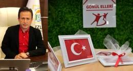 Başkan Yazıcı'dan Tuzlalı şehit ailelerine 'Çanakkale Zaferi' anısına Türk Bayrağı