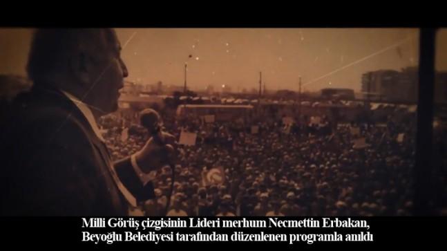 Cennet mekan Necmettin Erbakan Beyoğlu'nda da anıldı