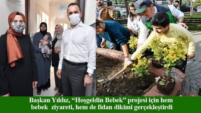 Beyoğlu Belediyesi, ilçede doğan 1822 bebek için 1822 fidan dikti