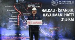Bakan Karaismailoğlu, Halkalı-Havalimanı Metrosu'nda son kısmı için startı verdi