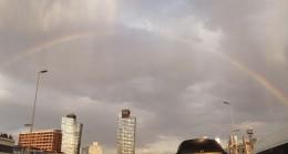 İstanbul semalarında gökkuşağı