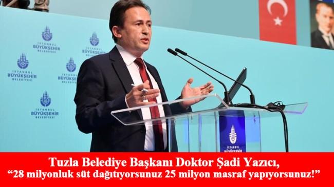 """Başkan Yazıcı, """"İstanbul halkının parasını algı oluşturmak için kullanıyorsunuz"""""""