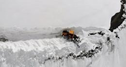 Muş'ta metrelerce yüksekliğinde kar