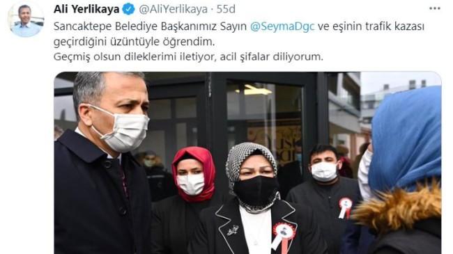 Vali Yerlikaya'dan Sancaktepe Belediye Başkanı Döğücü'ye geçmiş olsun mesajı