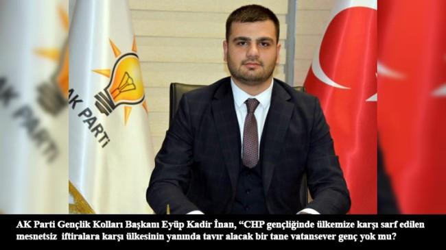 """AK Gençler, CHP gençliğine soruyor: """"Biden ve HDP'ye niye sessiz kaldınız?"""""""