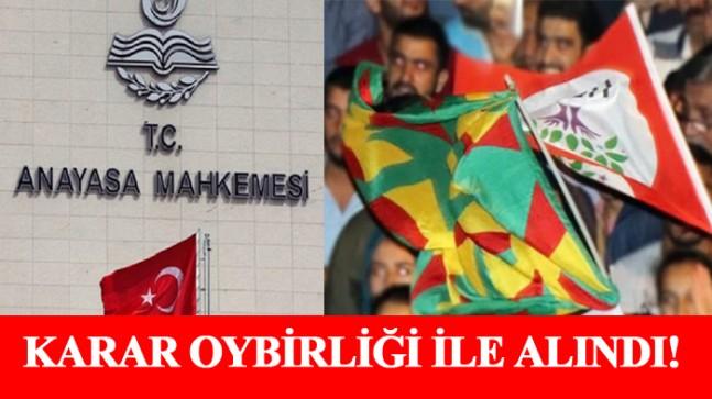 Anayasa Mahkemesi HDP'nin kapatılmasına ilişkin kararını verdi