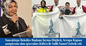 Başkan Şeyma Döğücü, şampiyon olan belediyenin sporcularını kutladı
