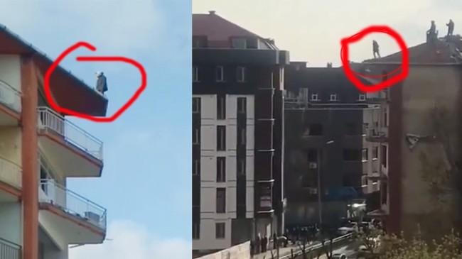 Çatıdan atlayıp intihar etti!