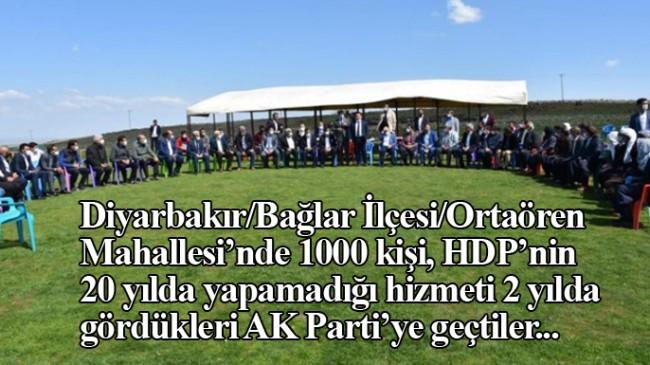Diyarbakır'da 20 yıldır HDP'li olan Ortaören Mahalle sakinleri AK Parti'ye