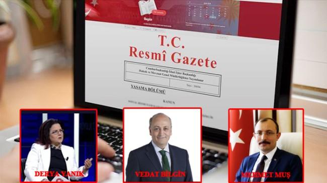 Erdoğan kabine'de değişiklik yaptı