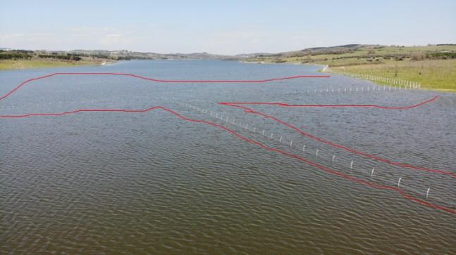 İSKİ tarafından Ömerli Barajında yapılan dikenli tel canlıları öldürüyor