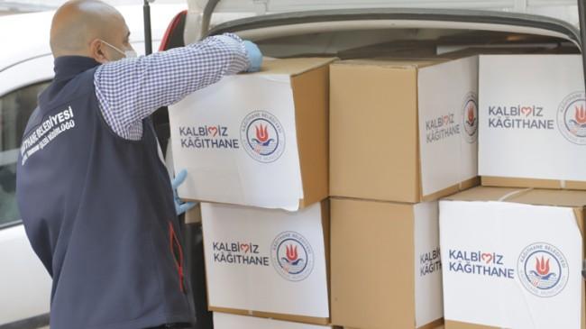 Kağıthane Belediyesi, 'Kalbimiz Kağıthane' diyerek ihtiyaç sahiplerine ulaşıyor