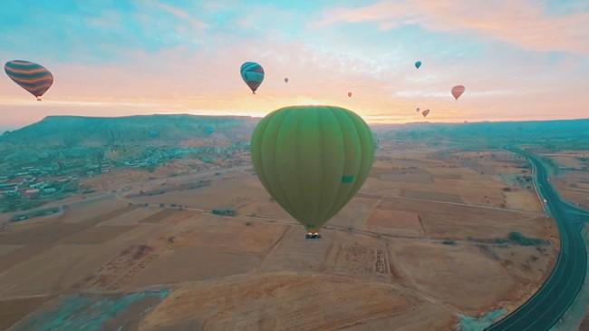 Kapadokya'da hayran bırakan görüntüler