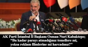 Osman Nuri Kabaktepe, İBB CHP yönetimine rakamlarla hesap soruyor