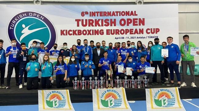 Şampiyonada 24 madalya toplayan Tuzla Belediye Spor Kulübü 1. oldu