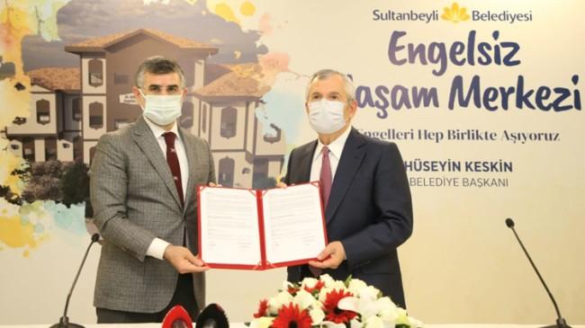 Sultanbeyli Engelsiz Yaşam Merkezi'ne kavuşması için imzalar atıldı