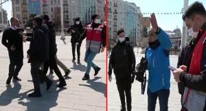 Taksim'de seyyar eşkıyalar, çekim yapan gazeteciyi darp etti