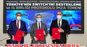 """Türkiye'nin ilk yerli """"ağ anahtarını"""" kullanmak Pendik Belediyesi'ne nasip oldu"""