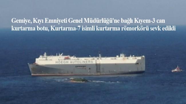 Tuzla'da karaya oturan gemi kurtarılıyor