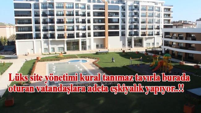 """Tuzla'da lüks site içinde """"eşkıya yönetim!"""""""