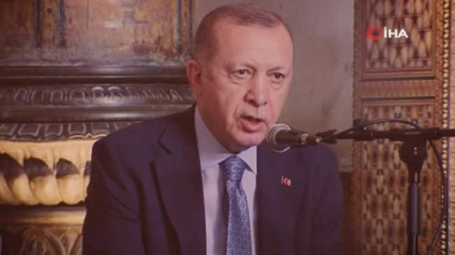Cumhurbaşkanı Erdoğan, Hafızlık icazetinde Kur'an-ı Kerim okudu