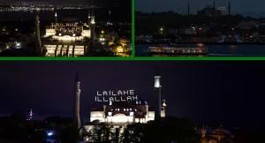 """Ayasofya-i Kebir Camii Şerifi'ne nereden bakarsan bak """"La ilahe illallah"""""""