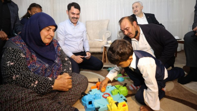 Kurum, Sedat ve Gülsema Erdoğan çiftini Cumhurbaşkanı Erdoğan'la görüştürdü