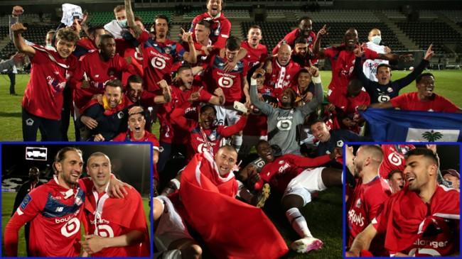 Burak Yılmaz, Zeki Çelik ve Yusuf Yazıcı'nın oynadığı Lille, Fransa şampiyonu